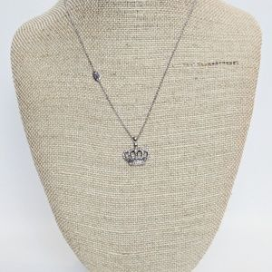 Juicy Couture Rhinestone Crown Necklace